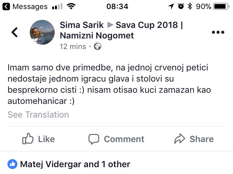 Komentar kolegov Srbov